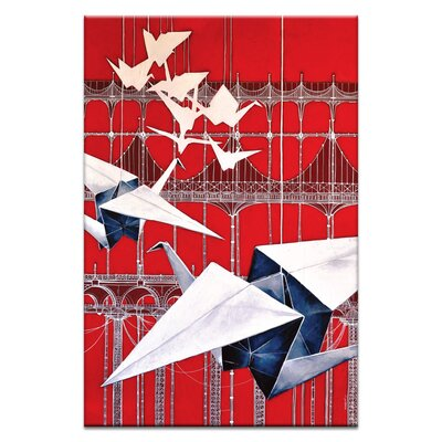 Artist Lane Flying over by Olena Kosenko Graphic Art Wrapped on Canvas