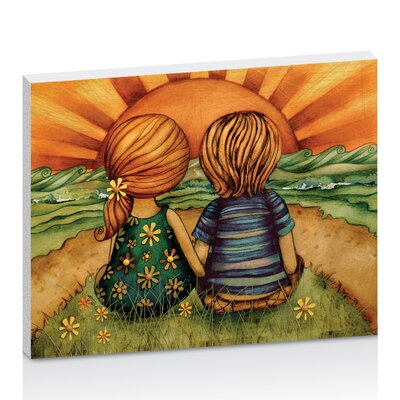 Artist Lane Sweethearts by Karin Taylor Art Print Wrapped on Canvas