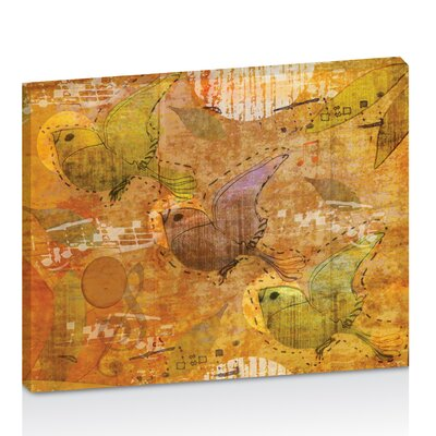 Artist Lane Song Birds by Karin Taylor Art Print Wrapped on Canvas