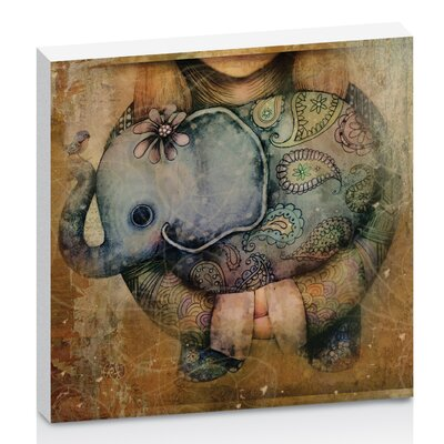 Artist Lane Paisley Elephant by Karin Taylor Art Print Wrapped on Canvas