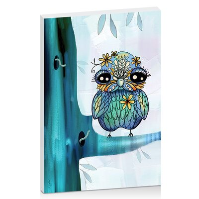 Artist Lane Little Blue Bird by Karin Taylor Art Print Wrapped on Canvas