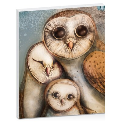 Artist Lane Three Wise Owls by Karin Taylor Art Print Wrapped on Canvas