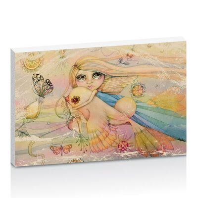Artist Lane Rainbow Angel by Karin Taylor Art Print Wrapped on Canvas