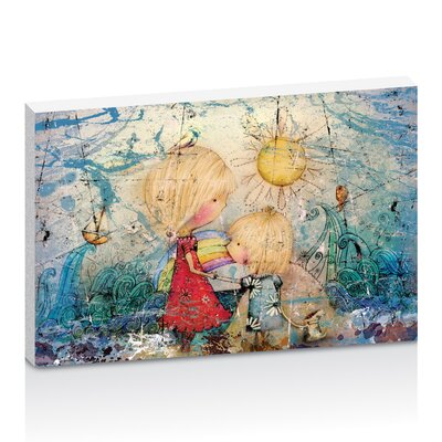 Artist Lane Sun and Sea by Karin Taylor Art Print Wrapped on Canvas