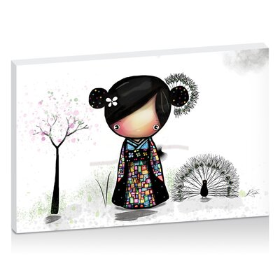 Artist Lane Patchwork Kimono by Karin Taylor Art Print Wrapped on Canvas