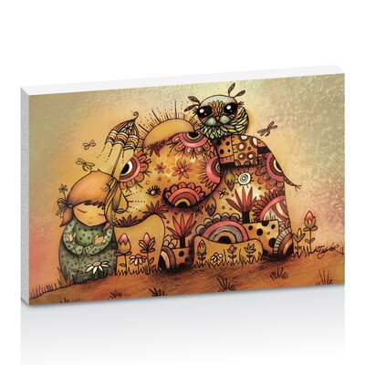 Artist Lane Elephant Love by Karin Taylor Art Print Wrapped on Canvas