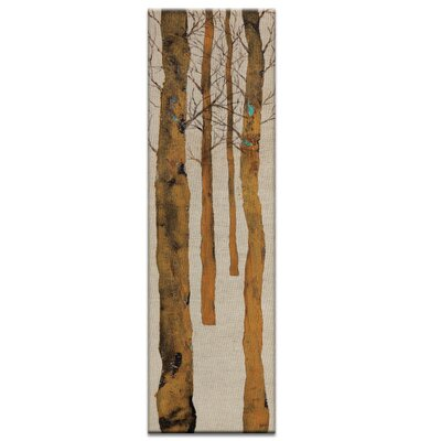 Artist Lane Inbetween the Trees 1 by Karen Hopkins Art Print Wrapped on Canvas in Brown/Grey