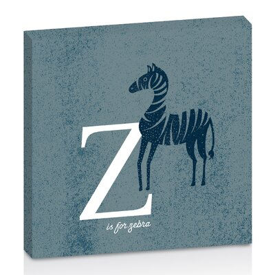 Artist Lane Z for Zebra by Toni Prime Graphic Art Wrapped on Canvas in Blue/White