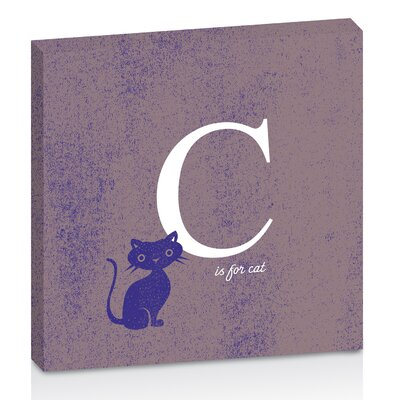 Artist Lane C for Cat by Toni Prime Graphic Art Wrapped on Canvas in Purple/White