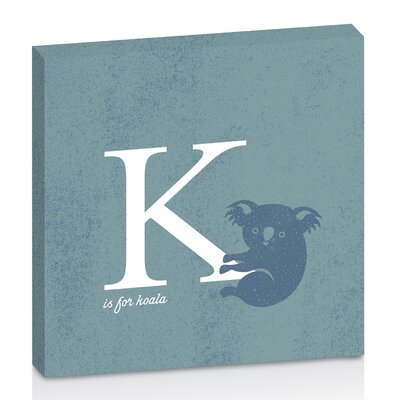 Artist Lane K for Koala by Toni Prime Graphic Art Wrapped on Canvas in White/Blue