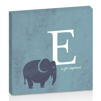Artist Lane E for Elephant by Toni Prime Graphic Art Wrapped on Canvas in White/Blue