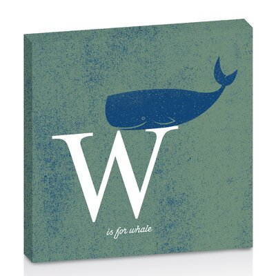 Artist Lane W for Whale by Toni Prime Graphic Art Wrapped on Canvas in Blue