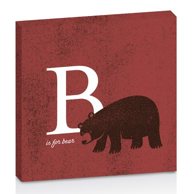 Artist Lane B for Bear by Toni Prime Graphic Art on Canvas in Red