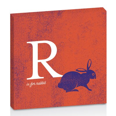 Artist Lane R for Rabbit by Toni Prime Graphic Art Wrapped on Canvas in Orange