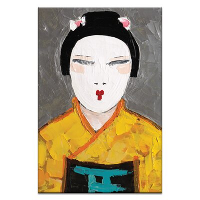 Artist Lane Sun Rise Geisha Close Up by Anna Blatman Art Print on Canvas