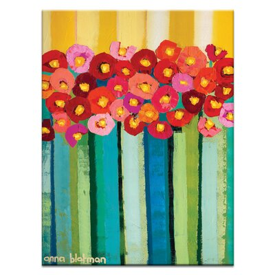 Artist Lane Vintage Poppies by Anna Blatman Art Print on Canvas