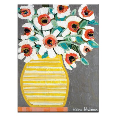 Artist Lane Yellow Stripe by Anna Blatman Art Print on Canvas