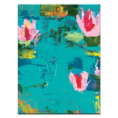 Artist Lane Swan Lilys by Anna Blatman Art Print on Canvas