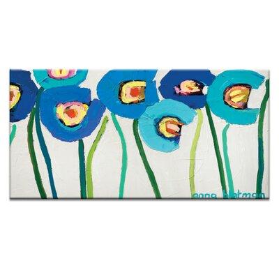 Artist Lane Blue Poppies 2 by Anna Blatman Art Print on Canvas