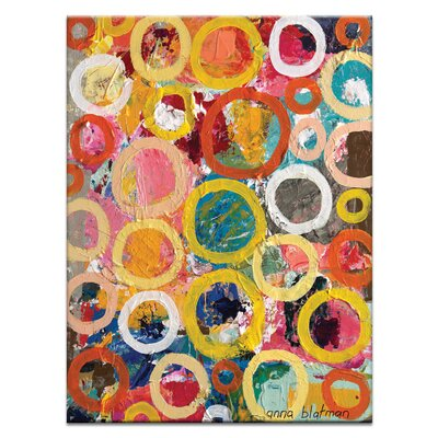 Artist Lane Circles 2 by Anna Blatman Art Print on Canvas