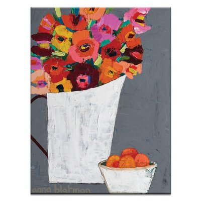 Artist Lane Orange Bowl by Anna Blatman Art Print on Canvas