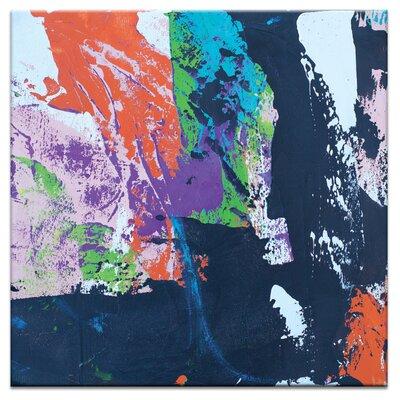 Artist Lane Blue Square 2 by Gill Cohn Art Print on Canvas