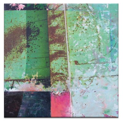 Artist Lane Pink Square 1 by Gill Cohn Art Print on Canvas