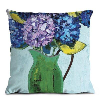 Artist Lane Green Jug Geraniums Cushion Cover