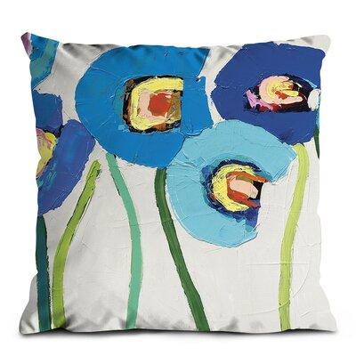 Artist Lane Blue Poppies Scatter Cushion