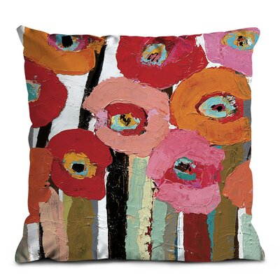 Artist Lane Brown Stemmed Poppies Cushion Cover
