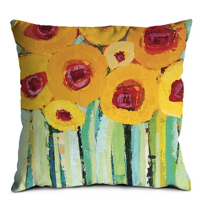 Artist Lane Yellow Poppies Scatter Cushion