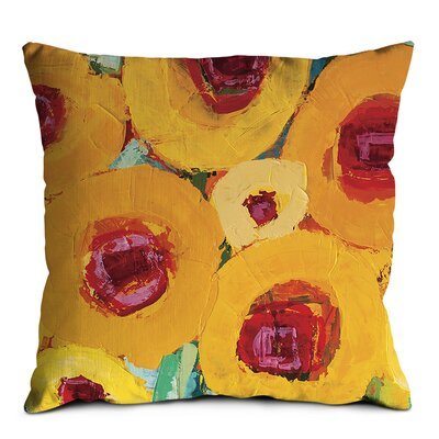 Artist Lane Yellow Poppies Scatter Cushion