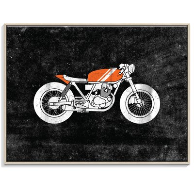 Artist Lane Cafe Racer 3' by Ayarti Graphic Art Unwrapped on Canvas