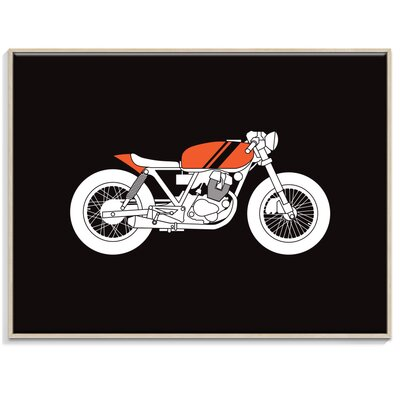 Artist Lane 'Cafe Racer 2' by Ayarti Framed Graphic Art on Wrapped Canvas