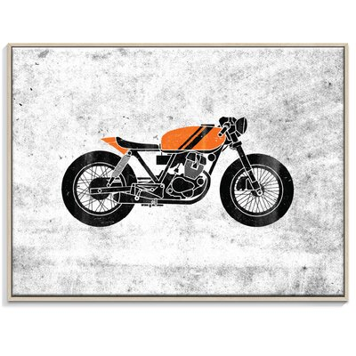 Artist Lane 'Cafe Racer 4' by Ayarti Framed Graphic Art on Wrapped Canvas