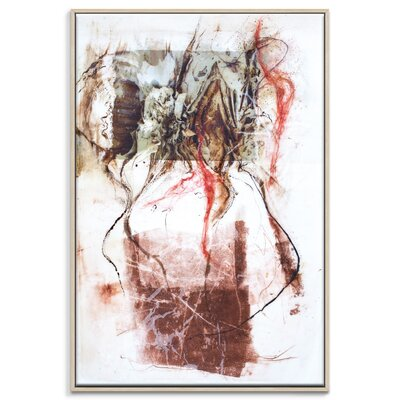 Artist Lane 'Paper Screen 3' by Gill Cohn Framed Art Print on Wrapped Canvas