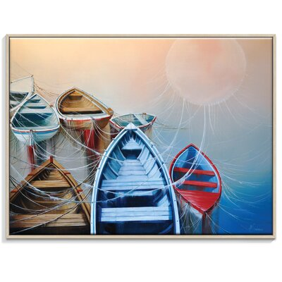 Artist Lane 'The Dawning Rose' by Olena Kosenko Framed Graphic Art on Wrapped Canvas