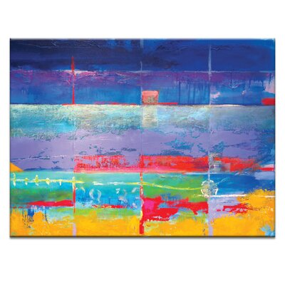 Artist Lane 'North South drift#1' by Alan Annells Art Print on Wrapped Canvas