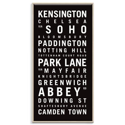 Artist Lane 'London 2' by Tram Scrolls Framed Typography on Wrapped Canvas