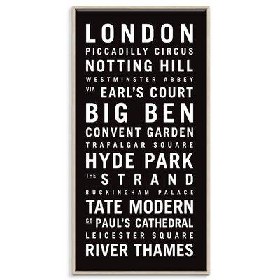 Artist Lane London 1' by Tram Scrolls Typography Unwrapped on Canvas