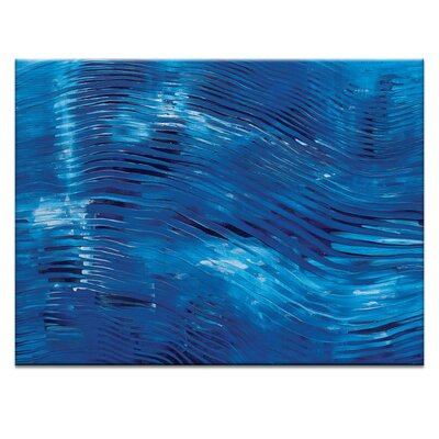 Artist Lane 'Blue Washed' by Rebecca Vincent Art Print on Wrapped Canvas