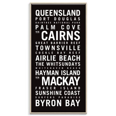Artist Lane 'Queensland' by Tram Scrolls Typography Wrapped on Canvas