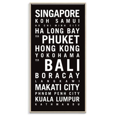 Artist Lane 'Asia' by Tram Scrolls Typography Wrapped on Canvas