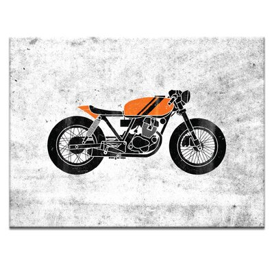 Artist Lane 'Cafe Racer 4' by Ayarti Graphic Art Wrapped on Canvas
