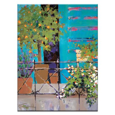 Artist Lane 'Balcony Appeal' by Catherine Fitzgerald Art Print on Wrapped Canvas