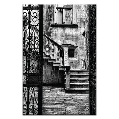 Artist Lane 'Stairs in Courtyard' by Andrew Paranavitana Photographic Print Wrapped on Canvas