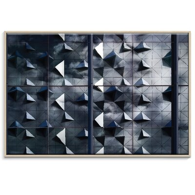 Artist Lane 'Cloudy Fragments' by Bente Andermahr Framed Graphic Art on Wrapped Canvas