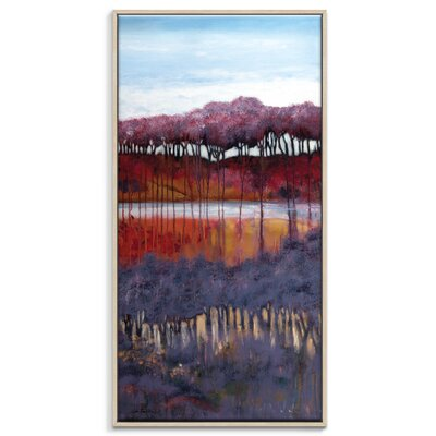 Artist Lane 'Blackberry Creek' by Lydia Ben-Natan Framed Art Print on Wrapped Canvas