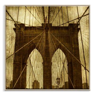 Artist Lane 'Brooklyn Bridge' by Andrew Paranavitana Photographic Print Wrapped on Canvas