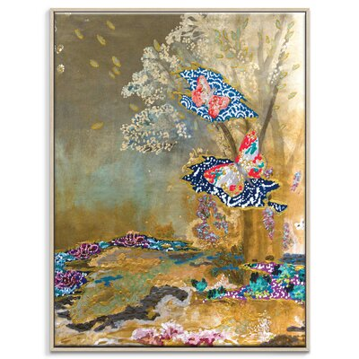 Artist Lane 'Gold' by Lia Porto Framed Art Print on Wrapped Canvas